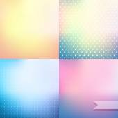 Pastel colored blurred backgrounds — Stock Vector