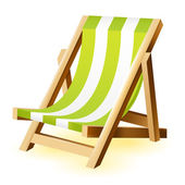 Beach chair on a white background — Stock Vector
