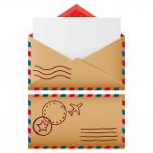 Two mail icons — Stock Vector