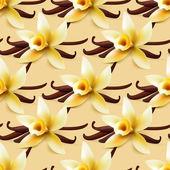Vanilla flowers background — Wektor stockowy