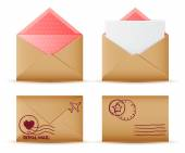 Realistic Envelope set — Stock Vector