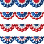 US flag round bunting decoration, — Stock Vector