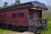 Old train wagon — Stock Photo