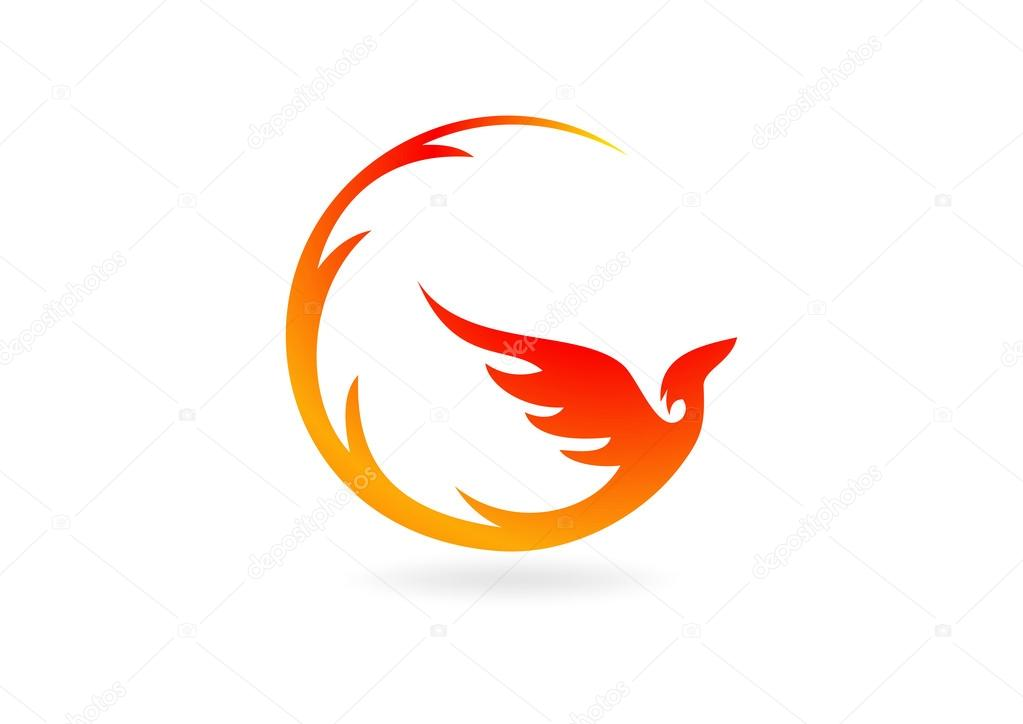 abstract phoenix business logo design symbol vector birds flying clipart birds flying clip art free