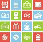 Shopping retail icons — Stock Vector
