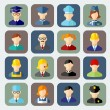 Set of colorful people occupation icons — Stock Vector #53989543