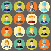 Set of colorful people occupation icons — Stock Vector