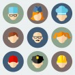 Set of colorful people occupation icons — Stock Vector #54267637
