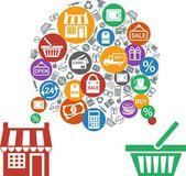 Shopping concept — Stock Vector