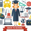 Education icons — Stock Vector #63218561