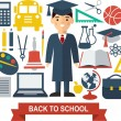 Education icons — Stock Vector #64981977