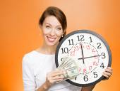 El tiempo es dinero concepto — Stockfoto