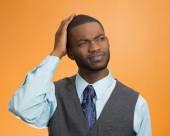 Man thinking, confused — Stock Photo