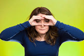 Curious funny woman — Stock Photo