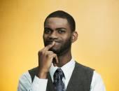 Man thinking, deciding about something — Stock Photo