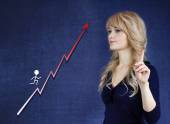 Career growth, step by step concept — Stock Photo