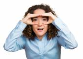 Curious. Eager for knowledge woman — Stock Photo