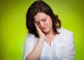 Depressed, gloomy woman — Stock Photo