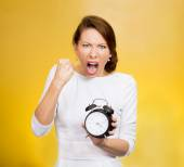Punctuality. Be on time! Angry demanding boss — Stock Photo