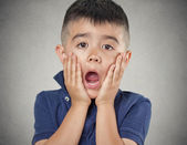Child with astonished expression — Stock Photo