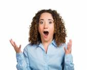 Mulher surpresa surpresa — Fotografia Stock