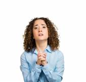 Woman begging for help forgiveness — Stock Photo