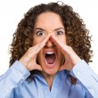 Angry woman screaming — Stock Photo #53670769