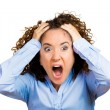 Stressed screaming young woman — Stock Photo #53687257