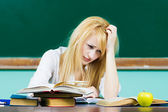 Stressed tired student — Fotografia Stock