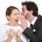 Couple man woman gossip — Stock Photo #53691443