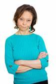 Grumpy, skeptical senior woman — Stock Photo