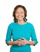 Senior, elderly woman laughing — Stock Photo