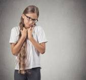 shy teenager girl — Foto de Stock
