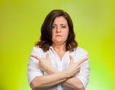 confused woman — Stock Photo