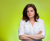 Pissed off angry grumpy pessimistic woman — Foto de Stock