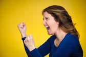 Angry woman screaming — Stock Photo
