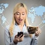 Modern communication technology mobile phone high tech — Stock Photo #56789659