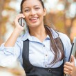Happy businesswoman talking on cell phone — Stock Photo #57594735