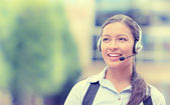 Customer service representative, call center agent — Stock Photo