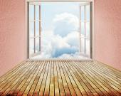 Room with open window — Foto Stock
