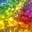 Wallpaper  to Valentine's Day with rainbow colors hearts — Stock Photo #63815419