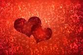 Tapety na Walentynki z czerwone serca — Zdjęcie stockowe