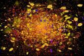 Motie van kleurrijke poeder exploderende bevriezen — Stockfoto