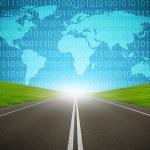 Digital highway binary code computer network internet concept — Stock Photo #70834273