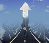 Career development business leadership concept — Stock Photo