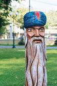 Escultura em madeira — Foto Stock