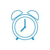 Alarm clock outline icon, modern minimal flat design style. Vector linear illustration, thin line symbol — Stock Vector