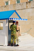Changing of the Guard ceremony, Athens — Stok fotoğraf