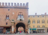 Piazza Della Cattedrale, Ferrara — Foto Stock