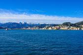 海からのジェノア — ストック写真